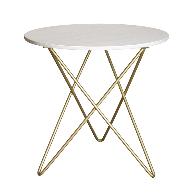 marble,brass side table